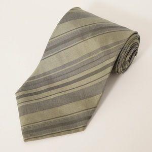 DKNY Green Striped Tie